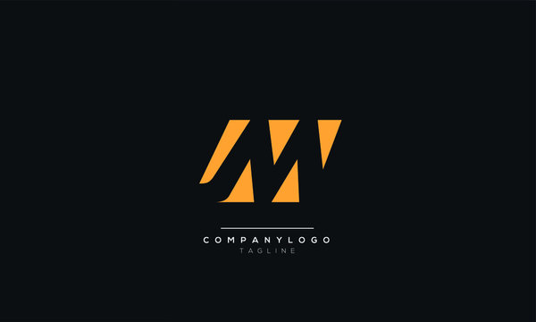 Letter M logo alphabet monogram initial based icon design