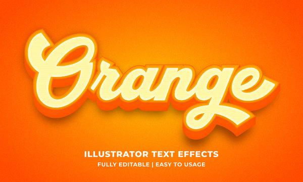 Orange Bold 3d Text Effect