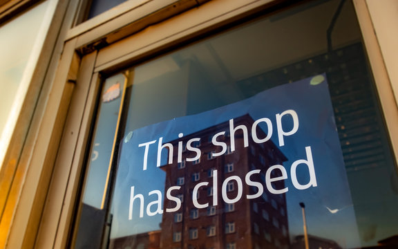 High Street shop closed / out of business