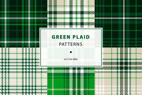 Emerald green plaid set