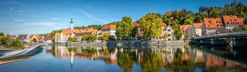 Panoramic view over historic downtown of Landsberg am Lech, Bavaria Fotomurales