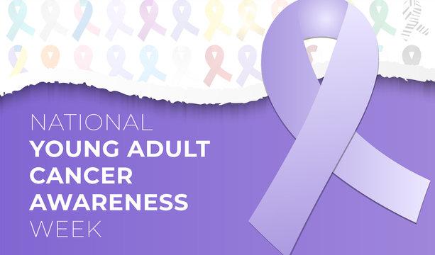 National Young Adult Cancer Awareness Week Background Illustration