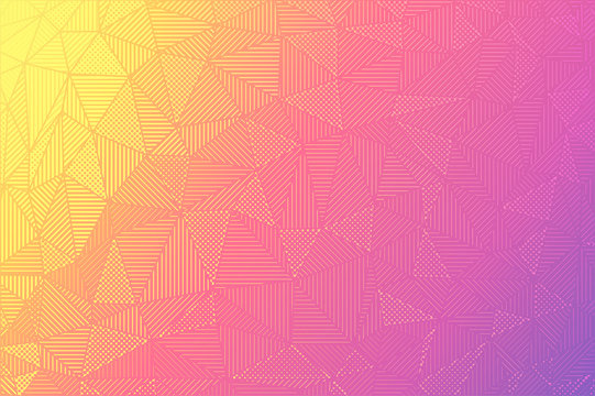 Graphic gradient background. Trendy texture backdrop. Fading halftone vector with blending vibrant colors.Strait lines and polka dots.