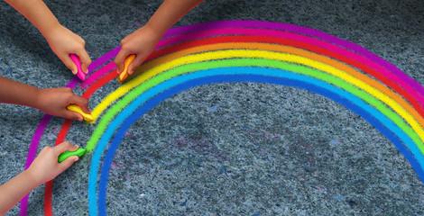 Fototapeta Hope Rainbow Concept obraz