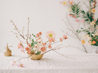 Printed roller blinds Floral A wabi sabi inspired floral arrangement
