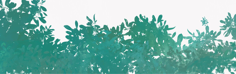 Watercolor leaves background, vector.