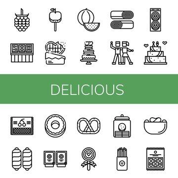 delicious icon set