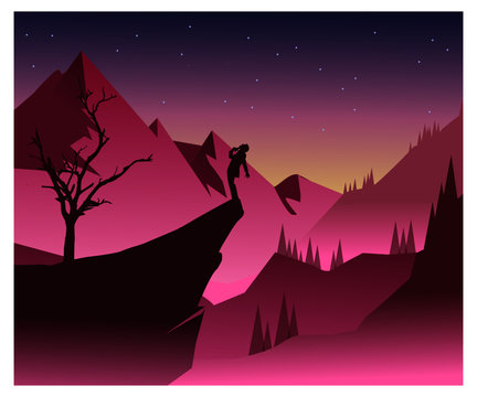 Suicide landscape vector art