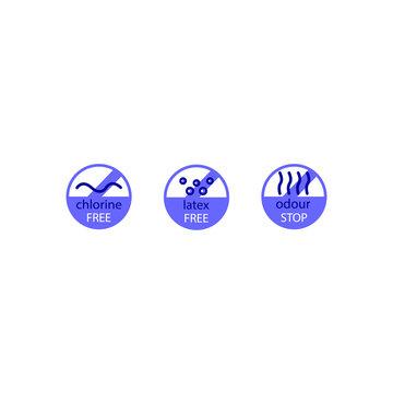 Set of diaper icon. Vector