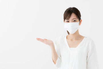 マスク 女性 Fototapete