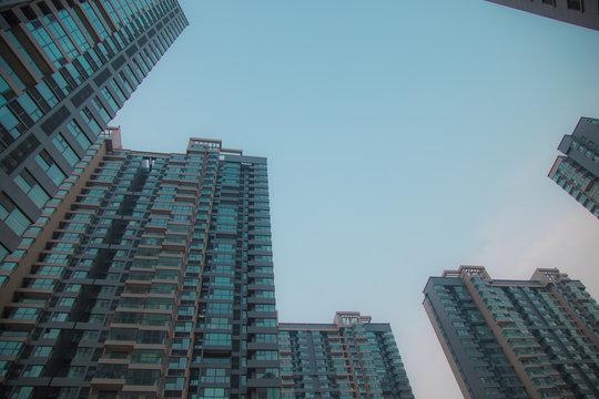Buildings architecture in Zhengzhou, Henan, China