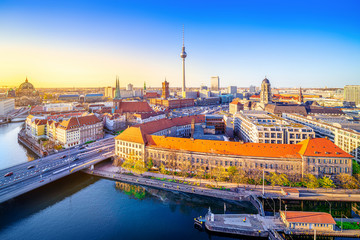 Wall Mural - panoramic view at the city center of berlin