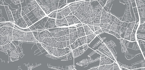 Photo Blinds Rotterdam Urban vector city map of Rotterdam, The Netherlands