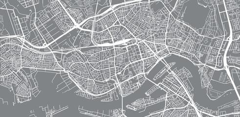 Poster Rotterdam Urban vector city map of Rotterdam, The Netherlands