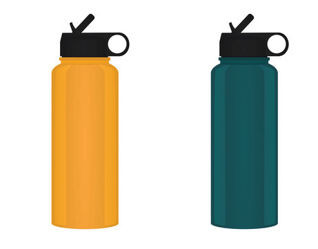 Sport water bottle. vector illustration