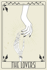 Photo sur Aluminium Retro sign tarot card