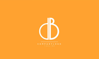 DB BD D B Letter logo alphabet monogram initial based icon design