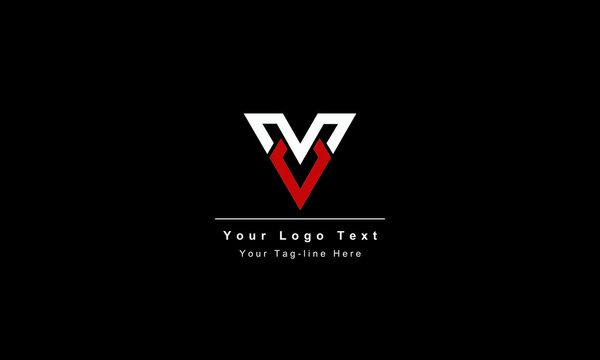 Abstract letter V logo design. Creative,Premium Minimal emblem design template. Graphic Alphabet Symbol for Corporate. Business Identity. Initial VV vector element