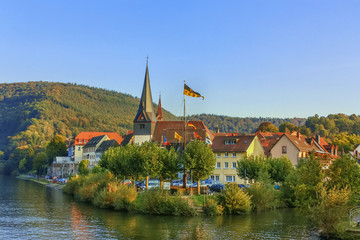 Fototapete - View of Neckargemund, Germany