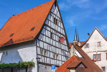 Fototapete - Historical  house in Bad Wimpfen, Germany