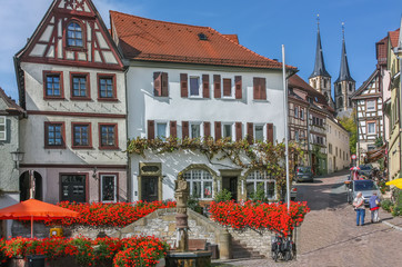 Fototapete - Square in Bad Wimpfen, Germany