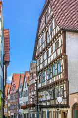 Fototapete - Street in Bad Wimpfen, Germany
