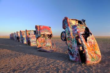 Amarillo, USA - 05 Novebmer, 2010 Art Installation Known as «Cadillac Ranch» in Amarillo, Texas, USA.