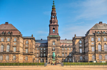 Wall Mural - Copenhagen historical landmarks, HDR Image