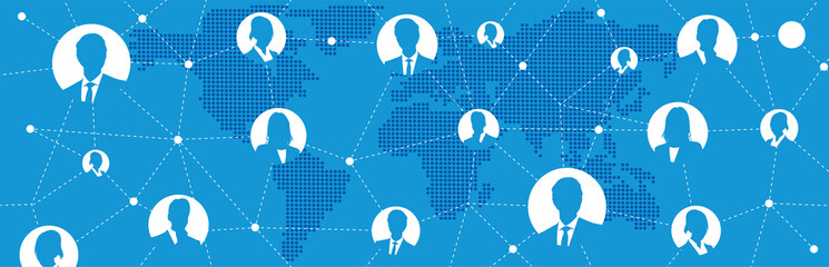 Social networking service global Vector Wall mural