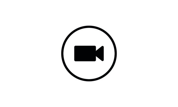 Video call icon vector illustration,Video chat icon vector