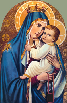 mary nazareth  orthodox church baby jesus theotokos   holy illustration bless