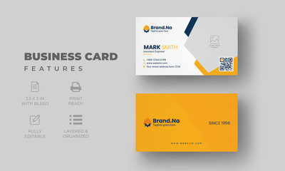 Creative Business Card Template |  Construction Business Card Design