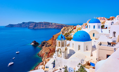 Santorini island in Greece Fotobehang