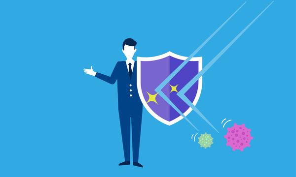 ウイルスから身を守るイメージ