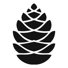 Fall pine cone icon. Simple illustration of fall pine cone vector icon for web design isolated on white background