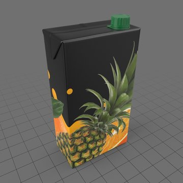Cardboard pineapple juice box 2