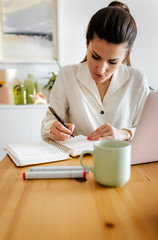 Freelance entrepreneur woman