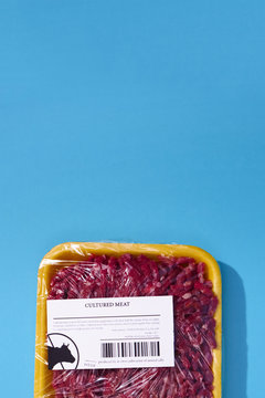 Container with cultured meat