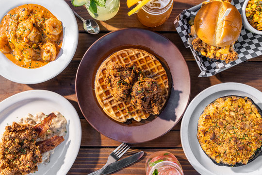Traditional Southern Brunch Food