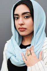 Stylish muslim woman.