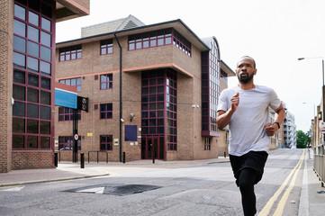 Urban male runner.