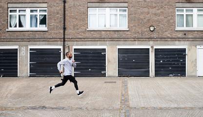 Sprinter in urban environment.