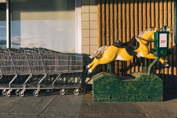 Coin Operated Horse Ride Outside Retail Store