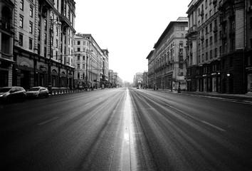 Fotomurales - City Street Against Clear Sky