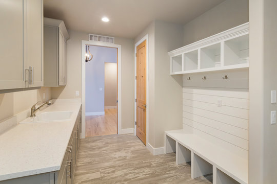 Modern and Rustic Farm House Laundry Room