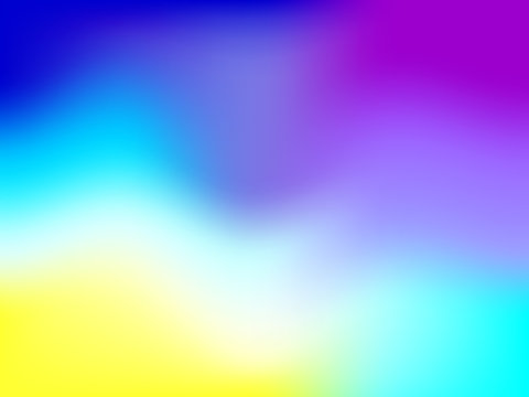 Abstract blurred gradient mesh background with colorful bright rainbow smooth banner template or pattern.