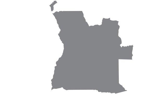 Angola map with gray tone on  white background,illustration,textured , Symbols of Angola