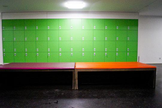 Interior Of Empty Locker Room