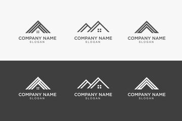 house roof logo design vector