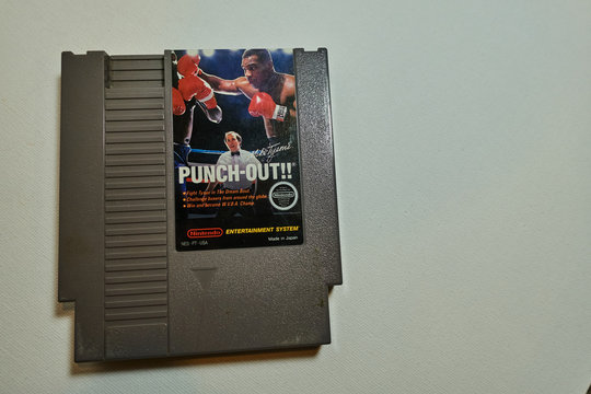 Tiffin, Iowa, USA - 12/2018: Nintendo NES Mike Tyson's Punch out
